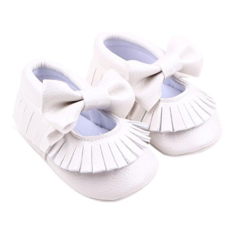 Culater® Neonata Presepe Bowknot scarpe bambino scarpe casuali Bianco