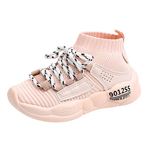 Sllowwa Babyschuhe Jungen Mädchen Baby Unisex Kinder Lauflernschuhe Krabbelschuhe Freizeit im Freien Freizeitschuhe Atmungsaktiver Turnschuhe Mesh Schuhe(Pink,21) - Schaffell Baby Booties