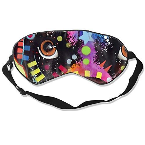 Schlafmaske für Damen und Herren, bunte Boxer-Hund, Augenmaske zum Schlafen, ultra-weich, atmungsaktiv, Augenmaske, Verdunkelung für vollständige Dunkelheit