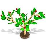Natureich Apfelbaum zum Stecken & Spielen / Kinder Holzspielzeug zur Frühförderung der Motorik ab 4 Jahre (Grün)