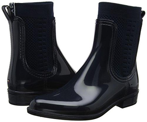 Tommy Hilfiger Tommy Knit Rain Boot, Botas de Agua para Mujer, Azul (Midnight 403), 39 EU