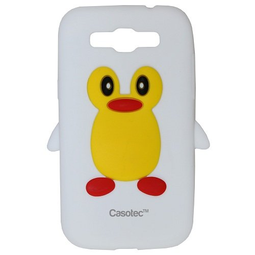 Casotec Penguin Silicone Jelly Back Case Cover for Samsung Galaxy Grand Quattro Win Duos i8552 - White  available at amazon for Rs.125