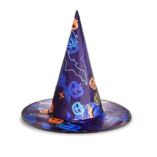 longhua Chapeau Halloween Mascarade fantôme Chapeau Citrouille Chapeau de sorcière Chapeau de sorcière Batte de Citrouille