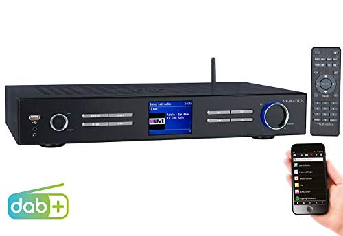 VR-Radio Internet Tuner HiFi: WLAN-HiFi-Tuner mit Internetradio, DAB+, UKW, Streaming, MP3, schwarz (Internet Tuner für HiFi-Anlage) - Iphone-net Radio