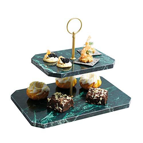 Kitchen Craft MasterClass Artesa rechteckig Marmor Buffet Serviertablett mit Griffen, 50x 15cm (49,5x 15,2cm)-Grün