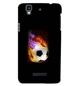 Printvisa Premium Back Cover Firing Football Pic Design For YU Yureka Plus::Micromax Yureka Plus YU5510A