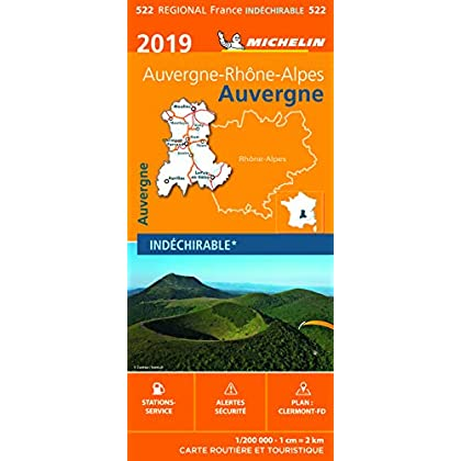 Carte Auvergne Michelin 2019