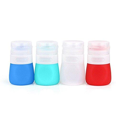 SUNYOU Tragbar Salatdressing Flasche Quetschflasche aus Silikon, BPA Frei,Satz von 4 (55ml)