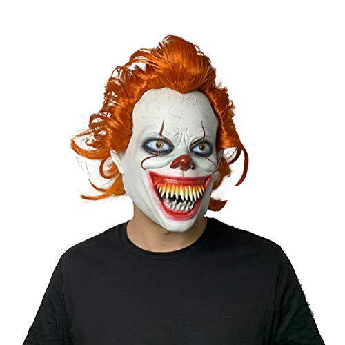 Clown Maske Halloween Pennywise Kostüm Scary Cosplay Prop Kinder Spielzeug Cosplay Kostüm Requisiten,A (Scary Clowns Kostüm Kinder)