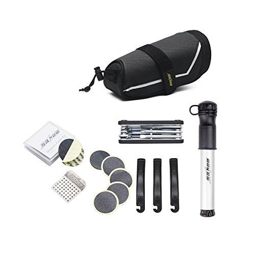 Fahrrad Reparatur Set Werkzeugset Satteltasche mit Werkzeug Fahrradwerkzeug Tasche Flickzeug mit Pumpe