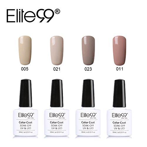 Elite99 smalto semipermente per unghie in gel uv led 4pzs colori kit per manicure smalti gel per unghie soak off base coat top coat