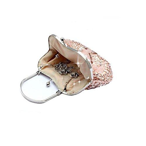 Klassisch Nationaler Stil Cheongsam Tasche Prinzessin Holding Tragbar Abendtasche Retro Perlen Tasche Braut Brautjungfer Kleid Pack Gold