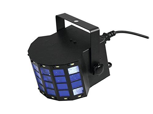 Eurolite LED Mini D-6 Hybrid Strahleneffekt | Handlicher Effekt mit Derby und Strobe in einem Gerät | Lichteffekt für Ihren Partyraum, Club, Bar, Disco | Auto-Modus, Musiksteuerung, interne Programme, Strobe-Effekt