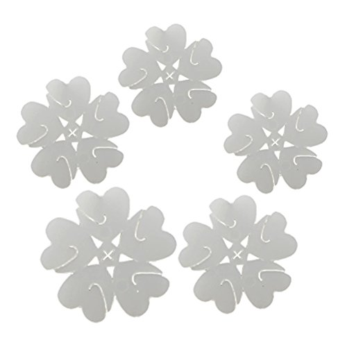 lumanuby 50Ballon Abdichtung Clip 5-in-one Pflaume CLIP Dichtung Ordner Blume Form Ballon Abdichtung Clip für Hochzeit Ehe Raum Celebration Weihnachten Geburtstag Dekoration
