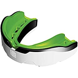 Makura lapillis Max protector bucal, color - White/Black/Green, tamaño Adulto