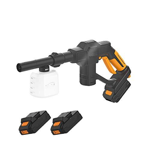 Pulitore di corrente portatile, pulitore a batteria al litio da 20 V, idropulitrice elettrica, lavatrice per auto wireless, 2 batterie e caricabatterie inclusi