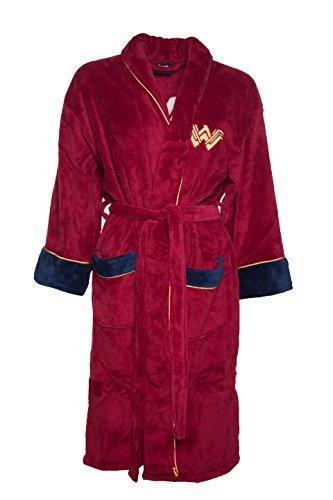 Womens Red Wonder Woman DC Comics Batman V Superman Dressing Gown