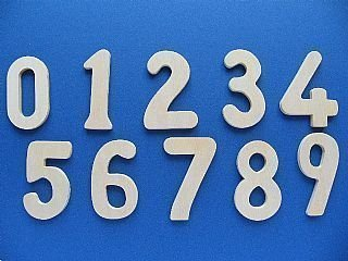 Wooden Number Templates set of 10 (8cm high)
