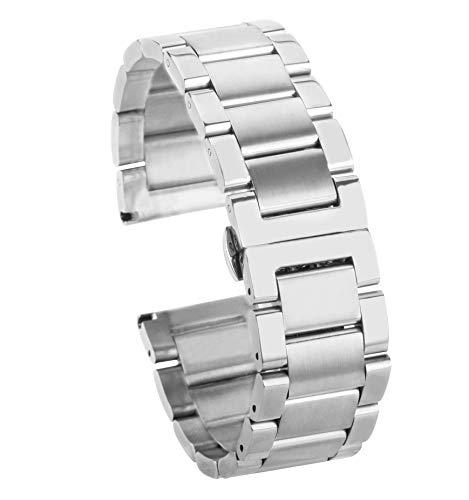 BONSTRAP Damen Edelstahl Uhrarmband Silber 18mm