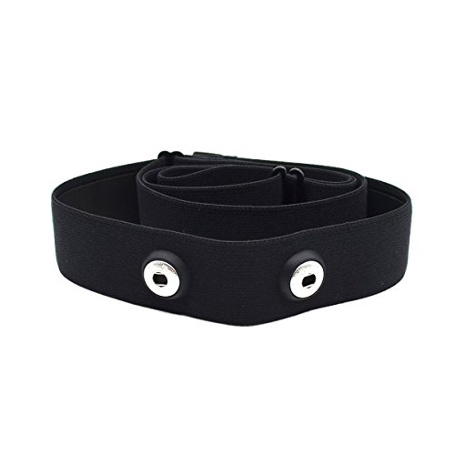 Cinta elástica Soft Strap de repuesto para monitor cardiaco para Polar Wahoo Garmin(Negro)