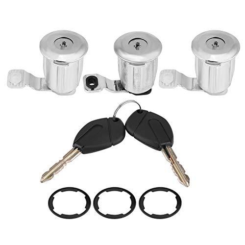 KIMISS Auto Türschlosszylinder mit Schlüssel 252522 (3 Schließzylinder)