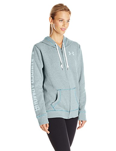 Under Armour Damen Favorite Fleece Full Zip Fitness-Sweatshirts, Blau, XS (Frauen Für Under Up Zip Armour)
