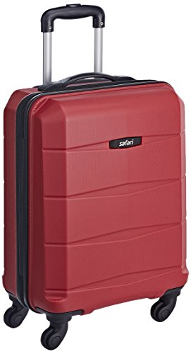 Safari Polycarbonate 56 Ltrs Red Hardsided Carry On (REGLOSS ANTISCRATCH 4W 55 RED)