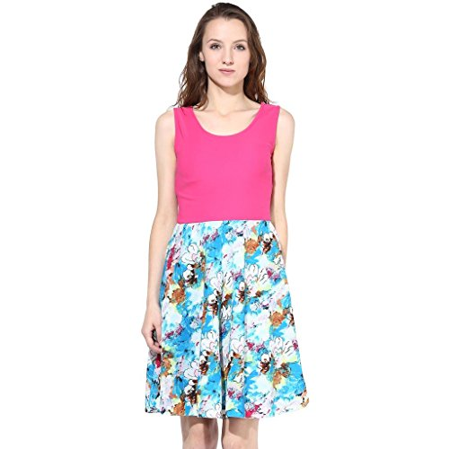 The Vanca Women Blue Casual Dress In Reyon Fabric  available at amazon for Rs.297