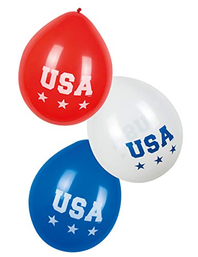 Generique - 6 Ballons USA 25 cm