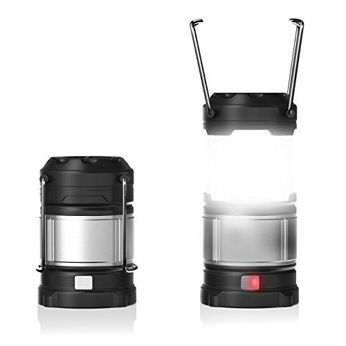 BRANDSON - LED Campinglampe/Laterne Ausziehbar   Powerbank-Funktion   LED Camping-Leuchte   2 Verschiedene Helligkeitsstufen   2 Warnleuchten Lichtmodi   Energieeffizienzklasse A+ - 2