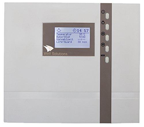 Well Solutions Design Sauna Steuerung Premium D4 für privat und Gewerbe bis 9 kW optional bis 18 KW -