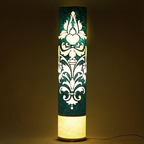 cartouche-pattern-handmade-paper-blue-white-shade-art-deco-floor-lamp-home-office-light