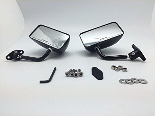 GP en fibre de carbone Race Petits miroirs Auto/vélo F1 type kit côté Wing Paire Droite + gauche