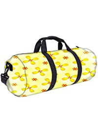 Snoogg Yellow Flower Gym Bag, Sports Duffel Bag, Fitness Workout Yoga Bag For Men Women With Compartment
