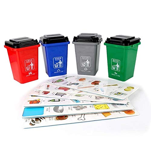 Betteros Bürobedarf Mini Curbside Mülleimer und Papierkorb Set Bleistift Getränkehalter Mülleimer Spielzeug Kinder Push Toy Fahrzeuge Mülleimer für Jungen