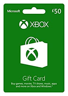 Microsoft Gift Card - GBP50 (Xbox One/360) (B00FAMLPM0) | Amazon price tracker / tracking, Amazon price history charts, Amazon price watches, Amazon price drop alerts