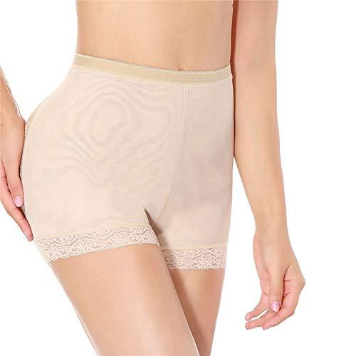 Frauen Mid-Taille Control Höschen Big Ass Pad Lace dünne weiche Unterwäsche