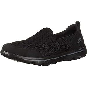 Skechers GO WALK EVOLUTION ULTRA-REACH, Women's Slip On, Black Black Textile White Trim Bkw, 6 UK (39 EU)