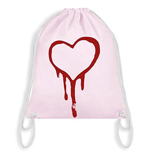 Symbole - Blutendes Herz - bloody heart - Unisize - Pastell Rosa - WM110 - Turnbeutel & Gym Bag (Herz Blutendes)