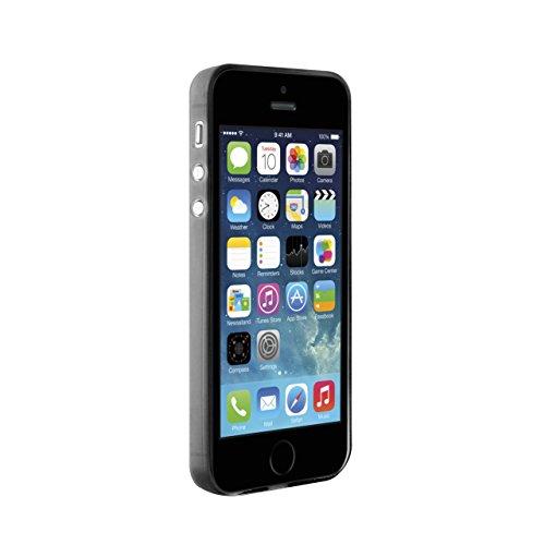 Puro Back Case Ultra Slim 0.3 Schutzhülle (für Apple iPhone 5/5S) Transparent Schwarz