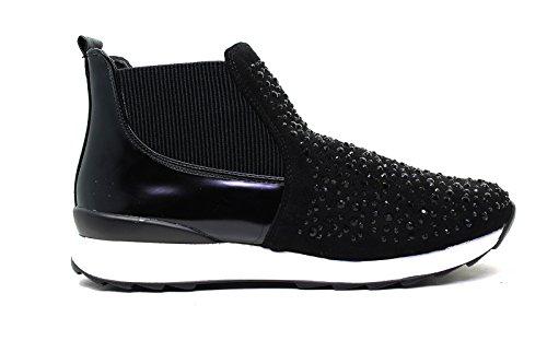 Francesco Milano Sneakers donna camoscio M200T-NEY NERO nero nuova collezione autunno inverno 2016 2017