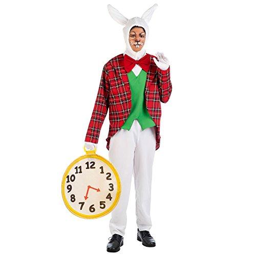 Weißes Wunderland Kaninchen Kostüm Erwachsene zum Alice Film - (Kostüm Weißes Alice Kaninchen Im Wunderland)