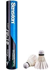 Senston 12xTraining Sport plume blanche Volant Birdies Badminton jeu de balle (Dozen)