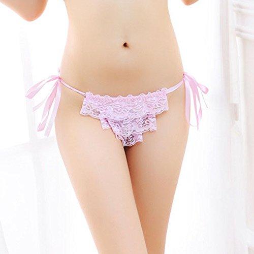 QPLA@T-back Unterhosen Schlüpfer Niedrige taille Slip Damen Unterwäsche Tangas,White One Size Pink One Size