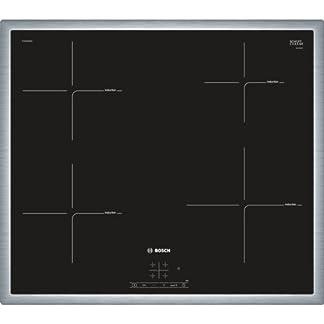 Bosch  PUE645BB1E – Placade inducción ,Integrable,  Terminación en acero, 17 niveles de potencia, Color negro