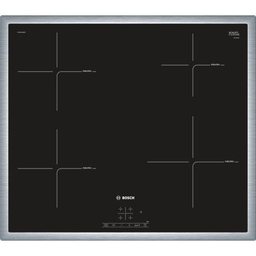 Bosch pue645bb1e - placade Induction, intégrable, finition en Acier, 17 Niveaux de puissance, Couleur Noir