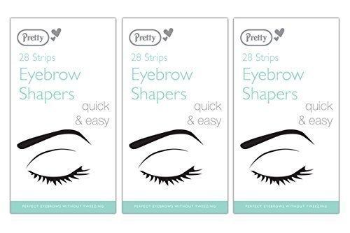 Augenbrauen-wachs-streifen (84 Pretty Augenbrauen Shaper Wachs Streifen - 3 Packungen Mit 28)