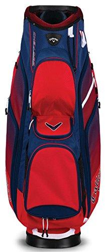 Callaway 2018 Chev ORG 14 Cart Bag Mens Golf Trolley Bag 14-Way Divider Red/Navy/White