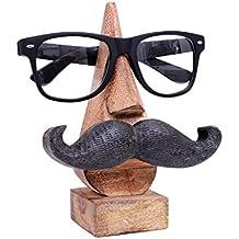 Grazie Giving Day o Regalo di Natale, Espositore in legno, Porta occhiali, Fermo per occhiali, Porta specchietto, Colore marrone Dimensione 6 X 2,5 pollici
