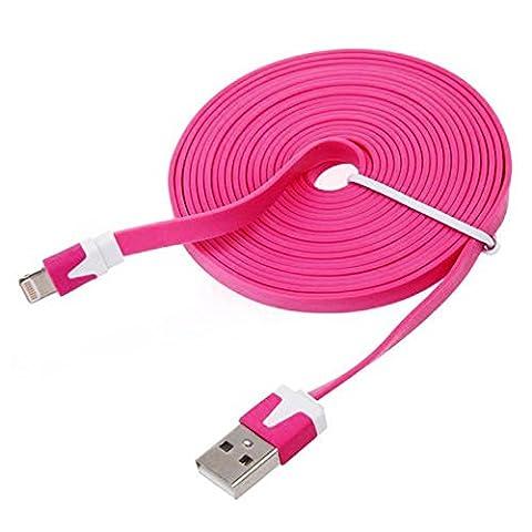pomme iPhone Câble de chargement USB USB 1 Mètre (1M) Flat nouille foudre Câble de connexion / Charge & Sync Câble pour iPad Pro / iPad Air 2 / iPad Air / iPad Mini / iPhone 7 (4.7